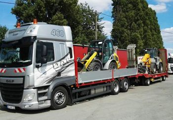 DAF CF 460 Radlader Transport