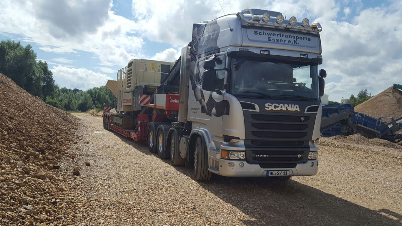Scania R730 in der Sandgrube
