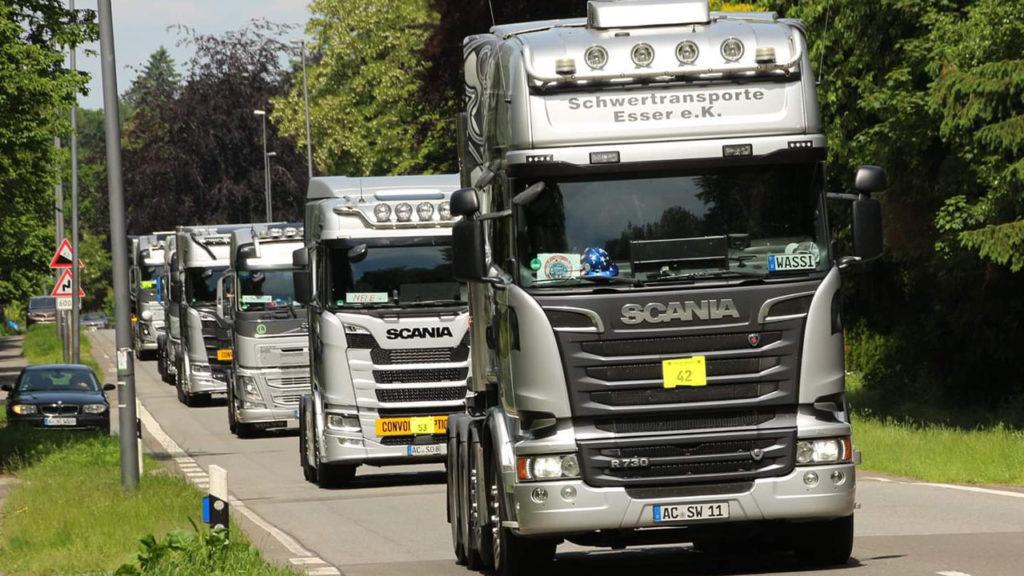 Euregio Truck Convoi 2019 Esser Schwertransporte